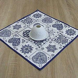 Erstaunliche Kleine Quadratische Tischdecke, das Beste Geschenk für die schönste Küche von HomeAtelier, Blauer Klassiker, 40x40cm