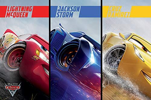 Disney Cars 3 (plit) Maxi Póster, multicolor, 61 x 91,5 cm