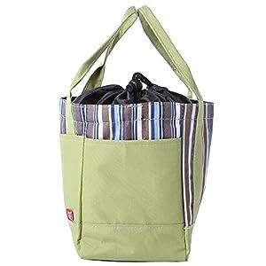 Zhuhaimei,Multifunktions-Streifen-Wasser-Zugschnur-Nylon Picknick-Picknick-Tasche(color:GRÜN)