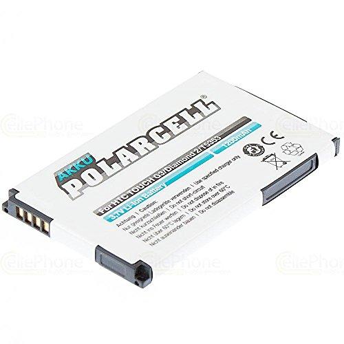 cellePhone PolarCell Akku Li-Ion für HTC Touch2 / Touch Diamond2 T5353 Topaz / Hero Smart / XDA Diamond 2 ( ersetzt BA S380/TOPA160 )