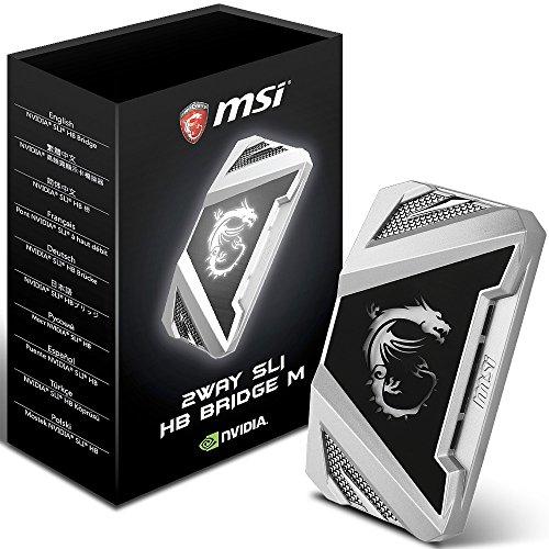 MSI 2WAY SLI HB Bridge M Internal SLI interface cards/adapter - interface cards/adapters (SLI, SLI, Black, Silver, 63 mm, 25 mm, 110 mm)