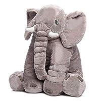 Baby Stuffed Elephant Plush Pillows Gray, 40cm