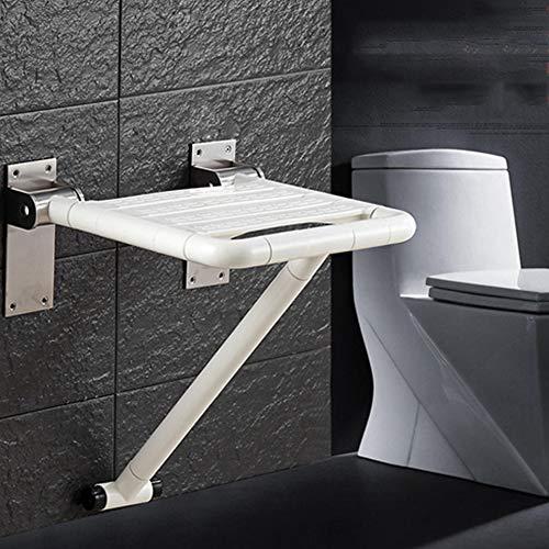 JM-D Duschklappsitz Duschsitz Sicherheitssitz Duschhilfe Klappbares Sicherheitsrutsch - Beweis barrierefreie Bad Stuhl für ältere und behinderte Menschen Max 300kg