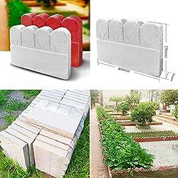 MYAMIA Zaun Blume Schimmel Pool Hof Kunststoff Ziegel Garten Baum Loch Beton Form Pathing Dekor