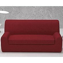 Funda de Sofá Elástica con el Cojín Separado Modelo ARUCAS, Color ROJO C/5, Medida 2 PLAZAS · 130-180cm