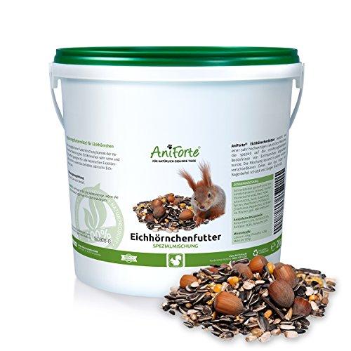 AniForte Garden Eichhörnchenfutter, 2 kg - Naturprodukt für Eichhörnchen und Streifenhörnchen Test