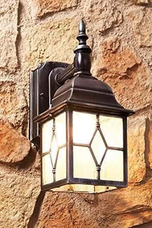 Applique Ancien Lampe Extérieure / Lanterne Murale / Luminaire avec Détecteur de Mouvement Invisible / Luminaire De Jardin / IP23 / Argent Antique 2/1/373
