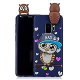 Tifightgo Custodia Compatibile con Samsung Galaxy S9 Cover in Silicone Animale Carino Bambole 3D Custodia di Protezione Dagli Urti Opaca Waterproof Strike Prevention