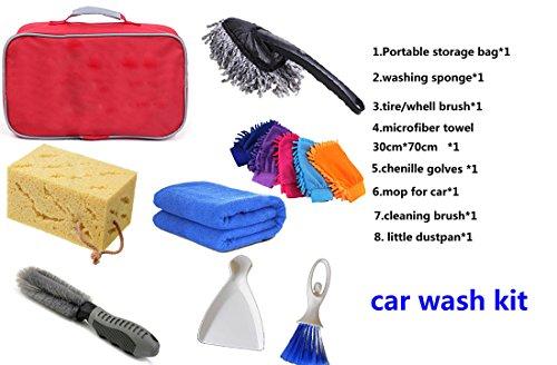 couturebr-Idal-arvi-Boutique-auto-set-di-pulizia-lavaggio-auto-cura-set-per-l-automobile-e-frecce-9-pezzi