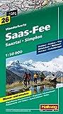 Saas Fee 26 Saastal / Simplon hallwag (r) wp (Wanderkarte)