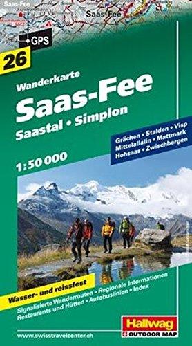 Saas-Fee 1:50.000. Carta escursionistica