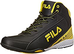 Fila Mens Ivanzo Black and Yellow Sneakers - 9 UK/India (43 EU)