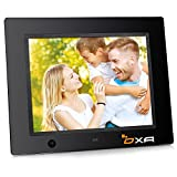 OXA 8-Zoll 16G HD Digitaler Bilderrahmen mit Eingebautem Speicherung- und Bewegungssensoren, MP3- und Video-Wiedergabe (Schwarz)