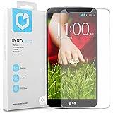 InnoBeta Protector de pantalla de cristal templado para LG G2 (D802) – Super delgado con dureza 9H y borde redondeado 2.5D