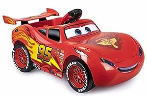 Feber McQueen - Coche eléctrico con luces y sonidos a batería, licencia CARS, 6 V (Famosa 800011146)