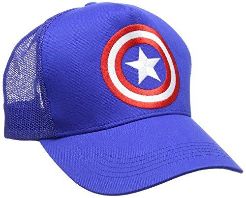 Marvel Unisex Baseball Cap Captain America-Shield Blue (Azure Blue), One (Captain Amazon Kostüm America)