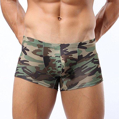 TianWlio Herren Unterwäsche Boxershorts Retroshorts Militärische Tarnung Boxer Briefs Trunks Unterwäsche Unterhose Feinripp Unterwäsche