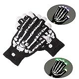 Wankd Leuchtende Handschuhe, LED Handschuhe mit 7 Farben Lichtshow, blinkende Handschuhe Spielzeug für Weihnachten, Halloween, Party, Tanzen, Bars und Aufführungen (schwarz)