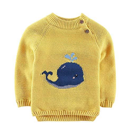 (JiaMeng Kinder Kinder Baby Mädchen Cartoon Cetacean Pullover Plüsch Pullover Strickkleidung)