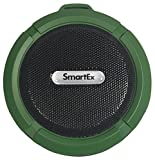 SMARTEX | Altavoz Bluetooth de Ducha, A Prueba de Agua, Sistema Manos Libres para Coche, Micrófono Incorporado, Recargable, Color Verde