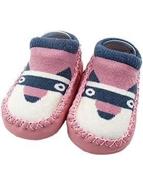 FNKDOR Cartoon Neugeborenen 0-4 Jahre Baby Mädchen Jungen Anti-Slip Socken Slipper Schuhe Stiefel