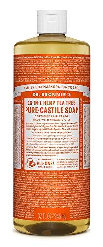 Dr. Bronner's Magic Soaps: Liquid Castile Soap, Tea Tree 32 oz by Dr. Bronner's