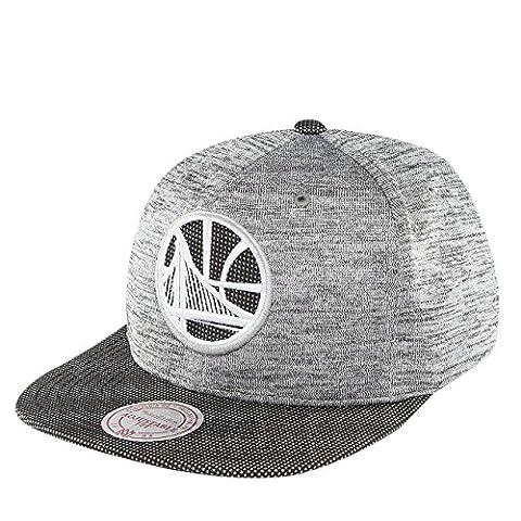 Mitchell & Ness Homme Casquettes / Snapback NBA Space Knit Crown PU Visor Golden State Warriors noir Réglable