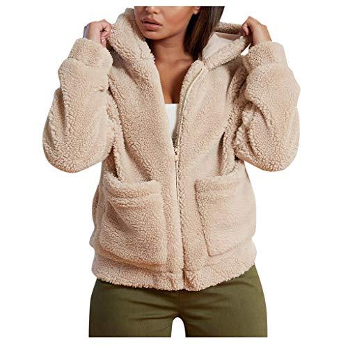TMOTYE Mantel Elegant Winter Faux Fur Kunstfell Warme Modisch Coat Jacke Wollmantel Winterjacke