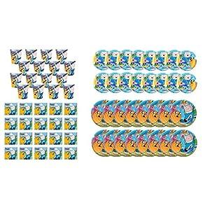 ALMACENESADAN 2274; Einweg-Party- oder Geburtstagspaket Adventure Time; 16 Teller 23 cm, 16 Teller 18 cm, 16 Gläser und 20 Servietten