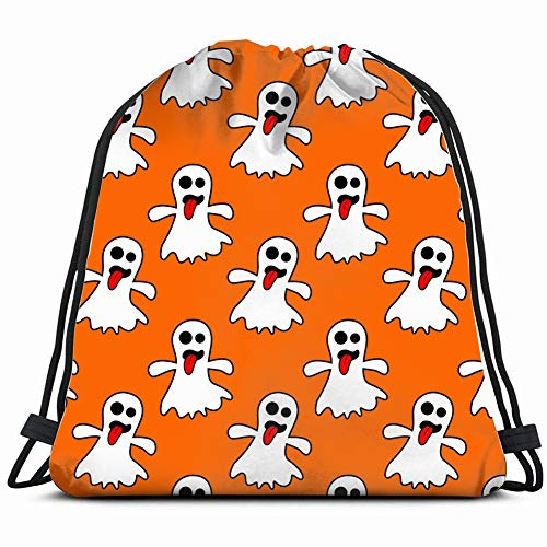 DD Decorative Ghost Cartoon Art Holidays Drawstring Backpack Gym Sack Lightweight Bag Water Resistant Gym Backpack for Women&Men for Sports,Travelling,Hiking,Camping,Shopping Yoga