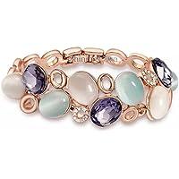 Shining Diva Fashion Latest Stylish Rose Gold Austrian Crystal Bracelet for Women and Girls (11942b), free