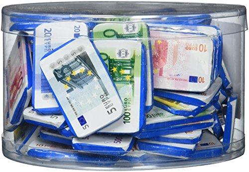 Theobroma Euro Banknoten aus Milchschokolade in der Dose, 1er Pack (1 x 1 kg)