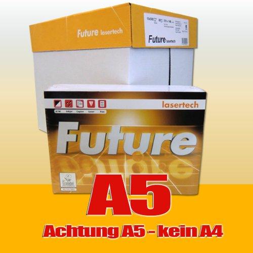 IGEPA - Carta per stampanti e fotocopiatrici, 80 g/m², formato A5, 5.000 fogli, colore: Bianco