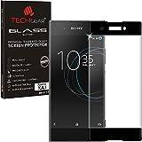 TECHGEAR Sony Xperia XA1 [Verre Version 3D] Protecteur d'Écran en Verre Trempé avec Protection Plein Écran (Noir)