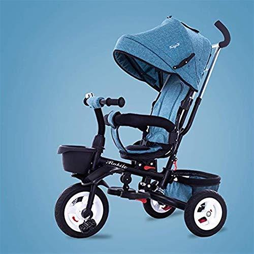 Hclshops Kinder-Dreirad 1-6 Jahre alt Leichter Klappwagen mit UV-Markise, 6 Farben erhältlich (Color : 1)