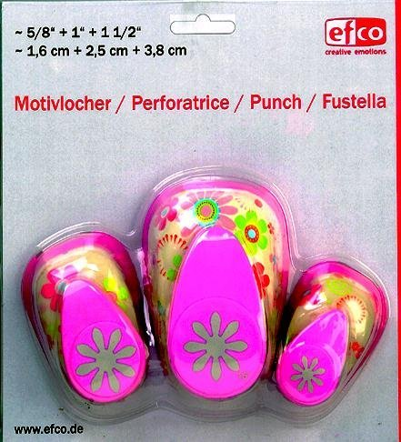 Efco-Perforadora diseño Daisy 3Piezas Set
