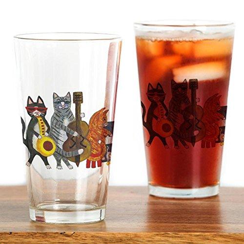 CafePress-JAZZ-Katzen-Pint-Glas, 16oz Trinkglas farblos