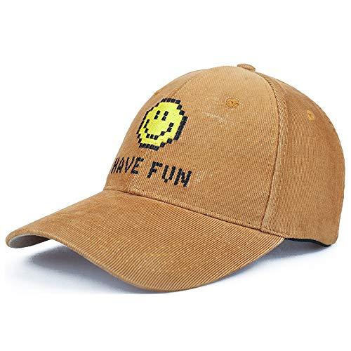 kyprx Brief Sonnenschutzkappe Kostüm Baseballmütze Mode lässig Outdoor Paar Kappen Jahreszeiten erhältlich gelb