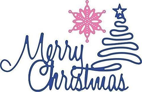 Cheery lynn metal Die cutting Merry Christmas tree snowflake B477