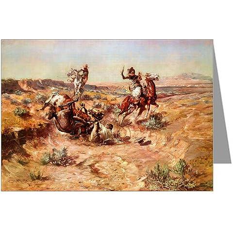 Doce de vaquero de Charles M, Russell arte Notecards 1904