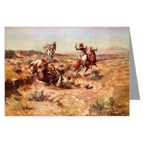 Seis de vaquero de felicitación del arte de Charles M, Russell 1904 tarjetas