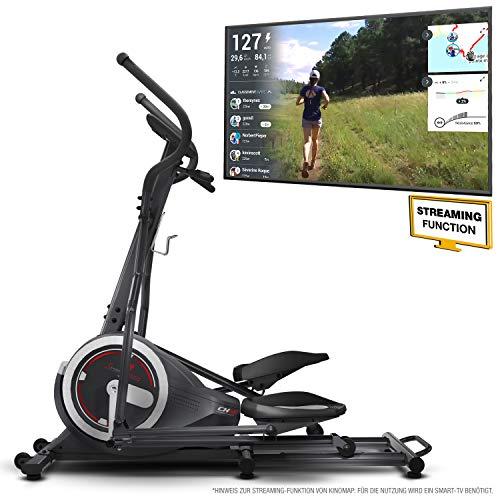 Sportstech Ellipsen Crosstrainer CX640, Smartphone App kompatibel, 24 KG Schwungmasse, 26 Trainingsprogramme mit HRC-Funktion (CX640)