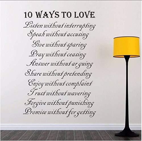 Lvabc Zehn Möglichkeiten, Buchstaben Wandaufkleber Kunst Worte Hausregeln Selbstklebende Tapete Abnehmbare Vinyl Wandtattoos Für Wohnzimmer Zu Lieben