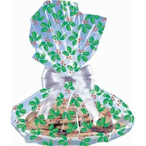 Holly Cookie Tray Bags, 6ct by Party