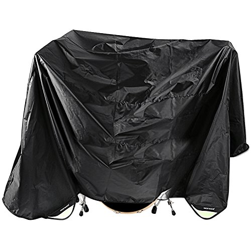 neewerr-black-80-x-108-inches-drum-set-dust-cover-water-resistant-nylon-cover-with-sewn-in-weighted-