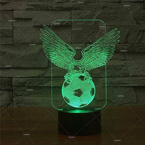 �ball Nachtlicht USB Lade Touch Schalter 7 Farben Umwelt LED Tischlampe Illusion Nachtlicht Kunstwerk Schlafzimmer Dekoration ()