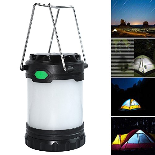 YGQersh Lampe de Secours pour Tente de pêche en Plein air avec Lampe de Camping et Batterie de Secours Portable - Noir