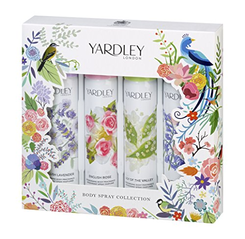 Yardley London Body Spray Collection Christmas Gift Set – Pack of 4