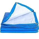 Planen Pavillon Camping Winddicht Starke Segeltuch-Plane-Wasserdichter Plane-Dampf-LKW-regendichte Krepp-Überdachungs-Plane Im Freien ZHANGGUOHUA (Farbe : Blau, größe : 2 * 3)
