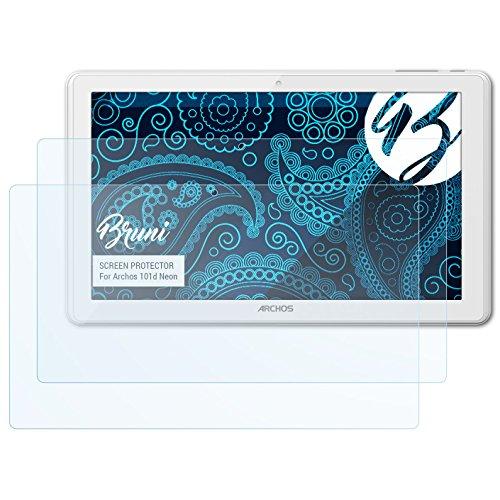 Bruni Archos 101d Neon Film Protecteur - 2 x cristal clair Film Protection d'écran Protecteur d'écran pour Archos 101d Neon